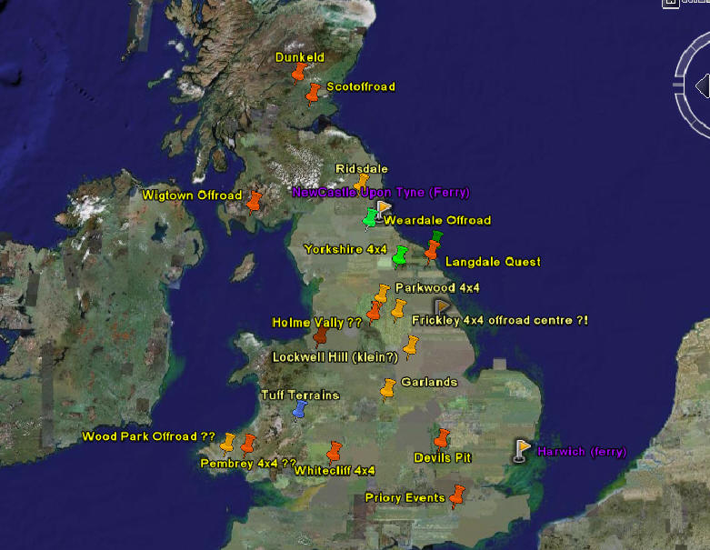 Google earth map the google earth map overlay with all locations of the 4x4 sites beta version only with all uk sites for using this you first have to install google gumiabroncs Choice Image